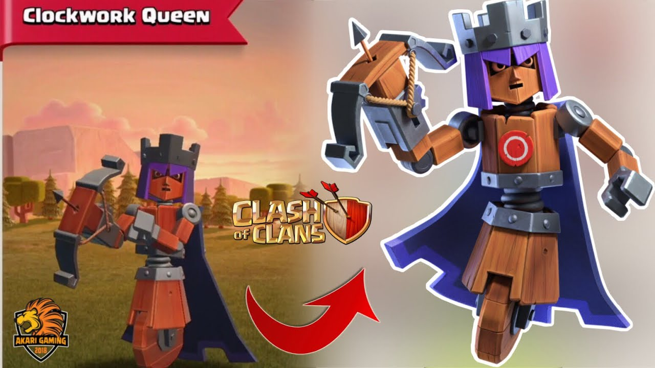 UPDATE TRANG PHỤC NỮ HOÀNG CƠ GIỚI MỚI THÁNG 6 Clash of clans | Akari Gaming | CLOCKWORK QUEEN