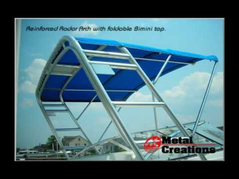 Custom Marine Fabrication, Boat Towers, T tops, Radar Arches, Canvas and Repairs  www.boattowers.com