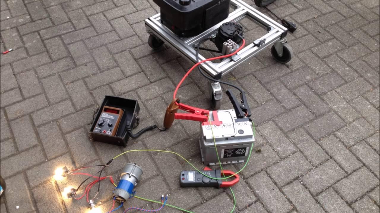 Berühmt Stromerzeuger 12 Volt aus KFZ Lichtmaschine - YouTube &NT_22