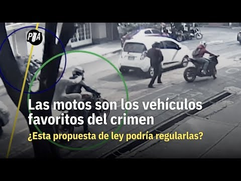 Motocicletas, vehículo favorito del crimen
