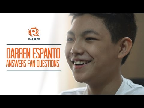 The Voice Kids' Darren Espanto answers fan questions