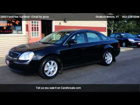 2005 ford five hundred se for sale in newport vt 05855. Black Bedroom Furniture Sets. Home Design Ideas