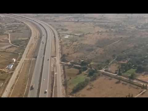 Landing at Hyderabad Airport | Aerial view of Hyderabad