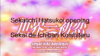 Video Sekaiichi Hatsukoi opening Sekai de Ichiban Koishiteru download MP3, 3GP, MP4, WEBM, AVI, FLV Agustus 2018
