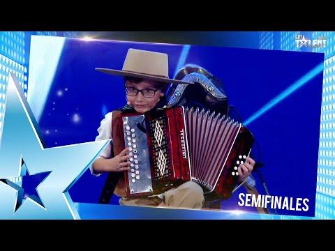 ¡FINALISTA! ENZO deslumbró al público con su acordeón