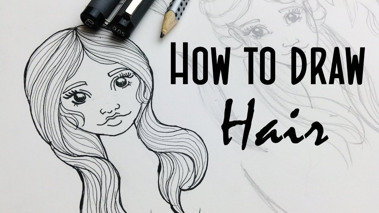 How To Draw Girl S Hairstyles Stylized Real Time Hair Drawing
