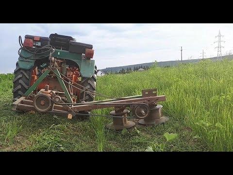 Homemade Rotary Mower in action - Cositoare rotativa homemade motocultor tractoras