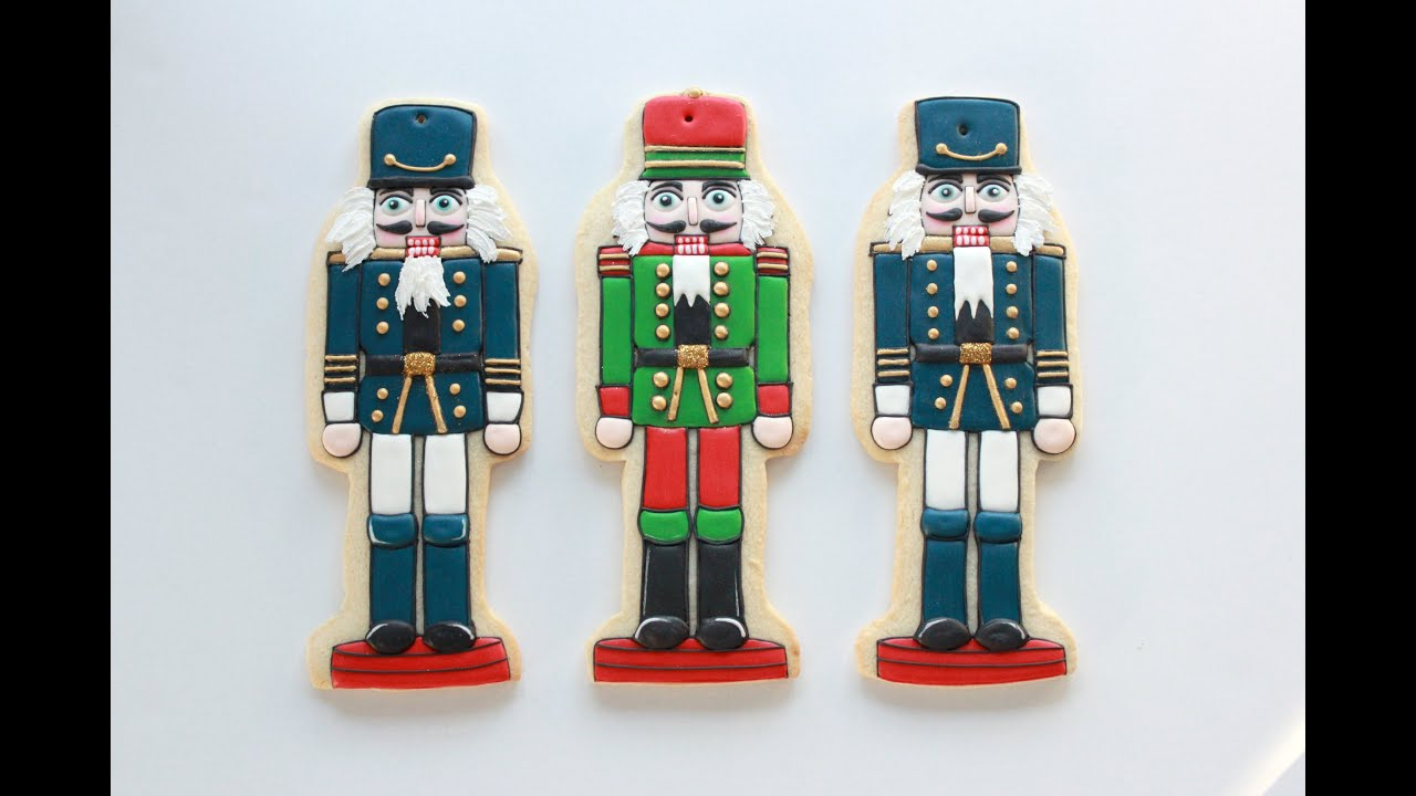 Decorating Nutcracker Christmas Cookies - YouTube
