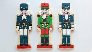 Decorating Nutcracker Christmas Cookies