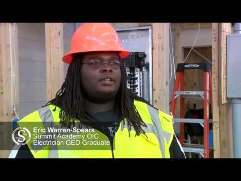Eric Warren-Spears Summit Academy OIC Electrician GED Graduate