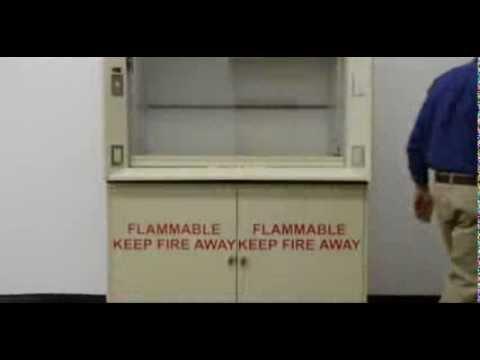 4' Kewaunee Scientific Laboratory Fume Hood with Base Cabinets