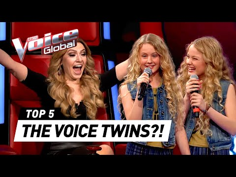 THE VOICE TWINS ?  Best Blind Auditions in The Voice Kids