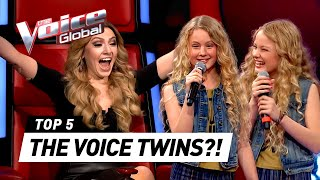 THE VOICE TWINS ? | Best Blind Auditions in The Voice Kids