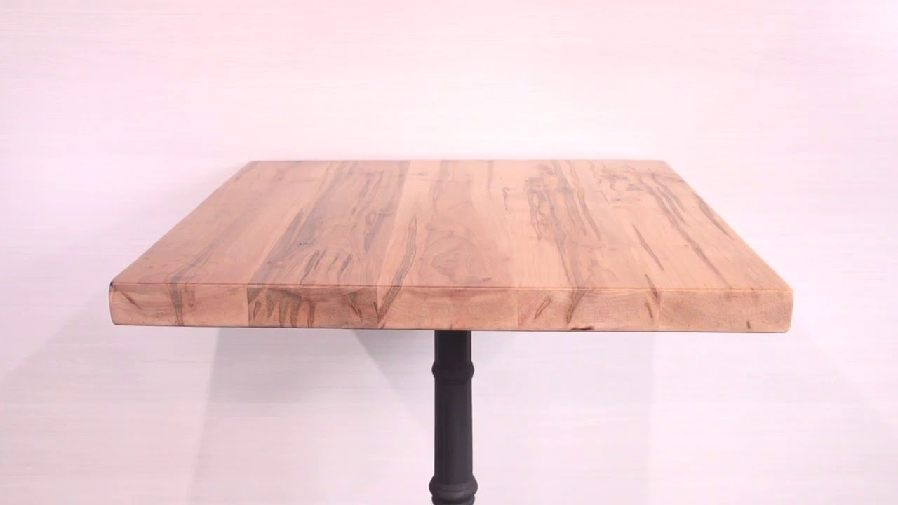 Solid Wood Rustic Maple Restaurant Table Tops YouTube - Rustic restaurant table tops