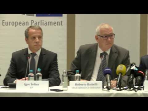 Early Parliamentary Elections, 11 December 2016: EOM press conference in Skopje