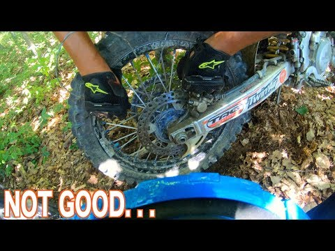 BARBED WIRE GETS STUCK ON DIRTBIKE TIRE !
