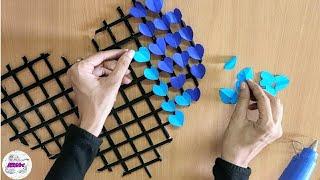 Easy Wall Decoration Idea | Newspaper Craft | Paper Craft | Diy Wall Decor #bestoutofwaste #stayhome