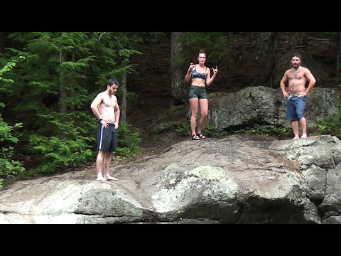 Fun at Frenchman's Hole, Bethel Maine