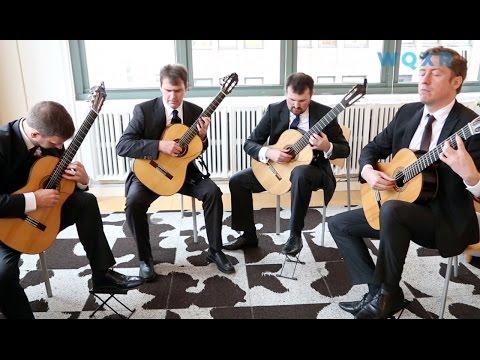 """Café Concert: Dublin Guitar Quartet Plays Philip Glasss String Quartet No 2 """"Company"""