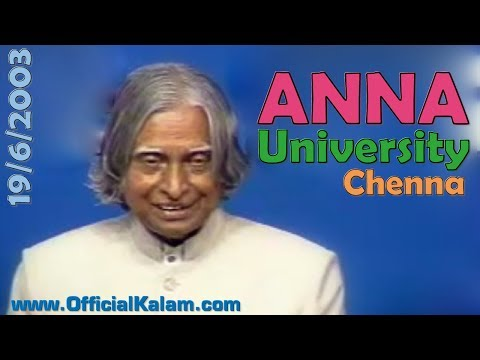Dr. APJ Abdul Kalam at Anna University on 19th June 2003