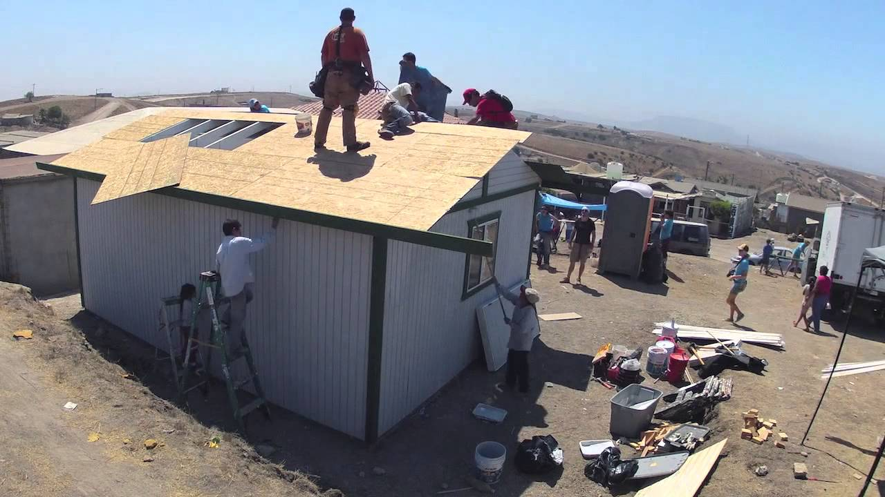 Homes of hope mexico house build youtube - When building a house ...