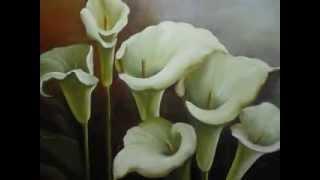 Video aula pintura de copo de leite por Melsi Maran