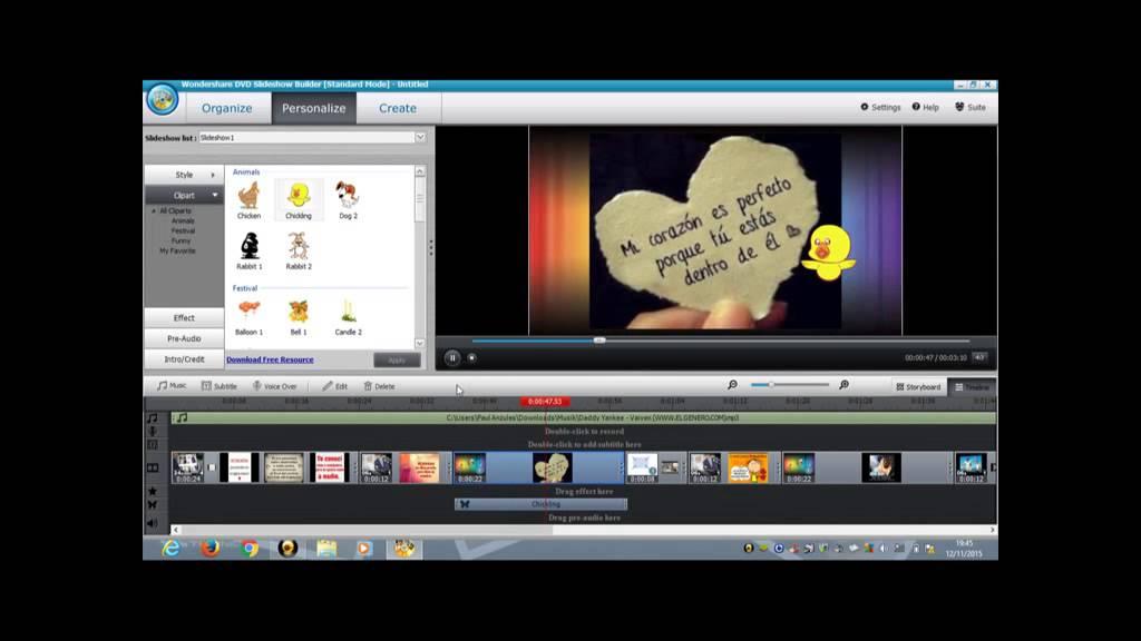 como crear videos con Wondershare DVD SlideShow Builder Deluxe - bien explicado (en español ...