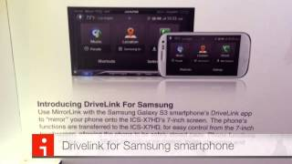 Alpine Electronics ICS-X7HD Mirror Link for SAMSUNG Android Touchscreen and control your Phone!