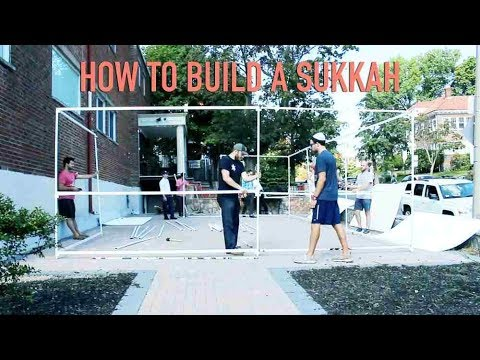 How to build a sukkah in six easy steps