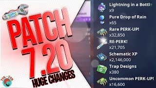FORTNITE | 7.20 PATCH NOTES | Huge Re-Perk Changes, 128 Frostnite?!