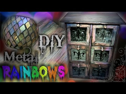 Iridescent Faux Finishing! | Furniture Revamp | Skelterina DIY