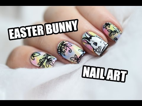 How To: Easter Bunny in the Magic Forest Nail Art || Marine Loves Polish