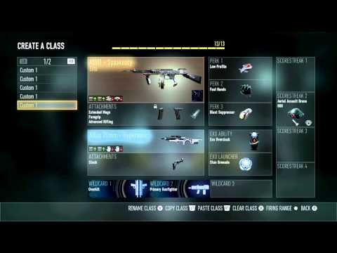 Best Advanced Warfare AW Search And Destroy SnD Classes - 2/7/15