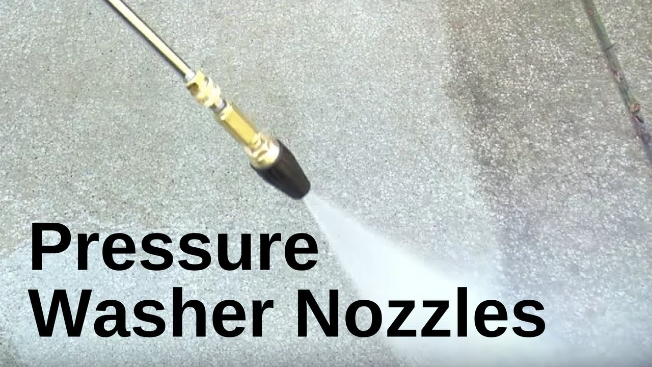 Choosing The Right Nozzle For Your Water Pressure Washer