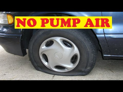 How To Air Up Any Flat Tire Without A Pump Anywhere With Only