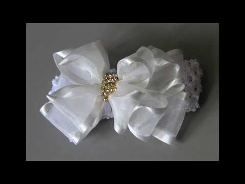 Noeud De Ruban Organza -  Organza Ribbon Bow  - Idée D'artisanat - Craft Idea