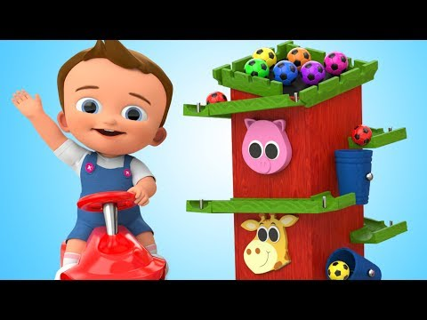 Thumbnail: Learn Colors for Chidlren with Baby Wooden Tower OrbitRoll Toy SoccerBalls 3D Kids Educational Video