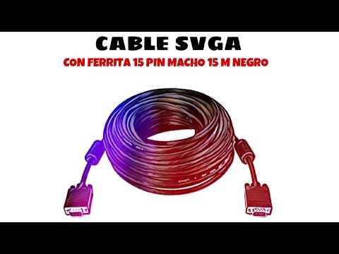 Video de Cable SVGA con ferrita 15  pin macho 15 M Negro
