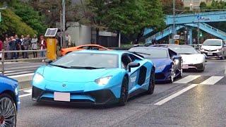 東京がランボルギーニだらけに 加速サウンド/Many Lamborghini in Japan. Aventador Huracan Huracan performante Aventador SV