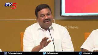 TDP Leaders On Anna Canteens Ban in State | NTR Bhavan | TV5 LIVE