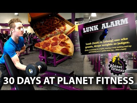 30 Days at Planet Fitness - Full Review & Workout - Lunk Alarm, Free Pizza Day & Gym Tour