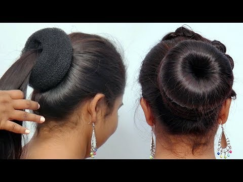 new-simple-high-bun-juda-hairstyle-||-easy-party-hairstyle-for-girls-||-updo-hairstyle-||-hairstyles