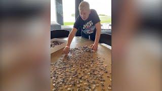 Ellen's Home Quarantine: Tackling a 4,000-Piece Puzzle