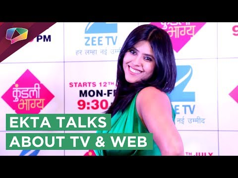 Ekta Kapoor Talks About Digital World Overpowering TV Or Not? | Kundali Bhagya Launch