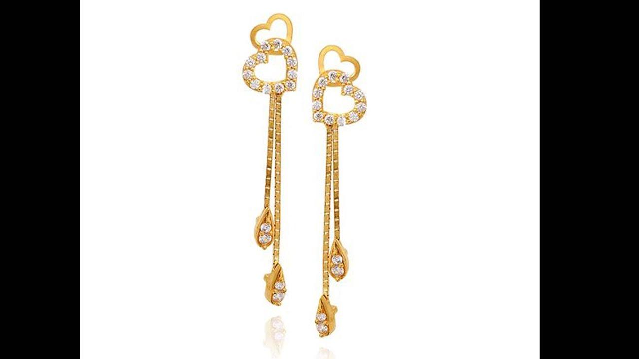 Light Weight 22k Gold Top Earrings Designs - YouTube