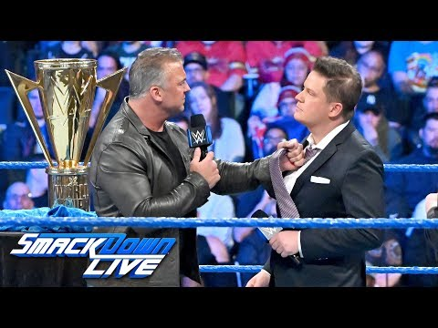 Shane McMahon gloats after defeating The Miz at WrestleMania: SmackDown LIVE, April 9, 2019