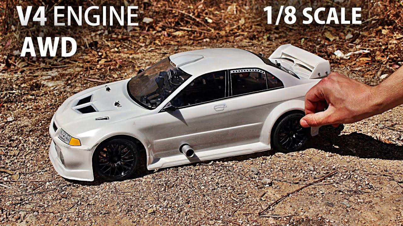 R/C V4 Car Final Modifications & Run!