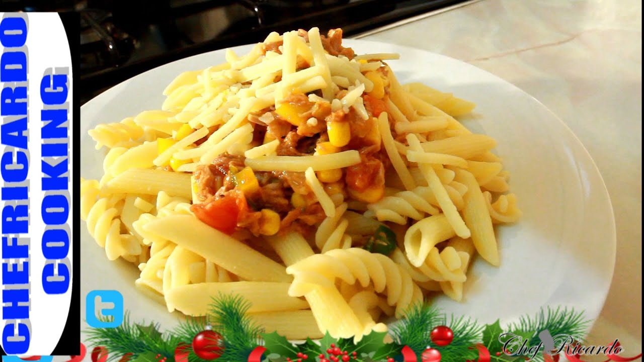 kids menu before christmas tuna pasta jamaican caribbean chef recipes by chef ricardo