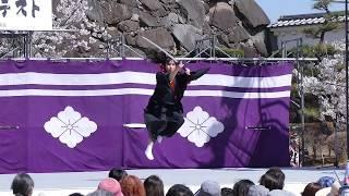 信玄公祭りスーパー風林火山パフォーマンスコンテスト舞鶴城公園2019創作剣舞橘一刀流雲組 Sword Performance