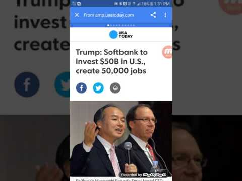 Sprint /softbank  (softbank to invest 50 billion in to the US)